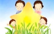 母亲节主题 可爱韩国插画壁纸 家庭主题图片 可爱韩国插画壁纸 母亲节主题韩国插画壁纸 插画壁纸