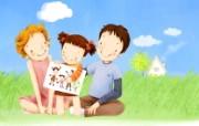 母亲节主题 可爱韩国插画壁纸 韩国插画壁纸 甜蜜家庭插画 母亲节主题韩国插画壁纸 插画壁纸