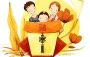 母亲节主题 可爱韩国插画壁纸 幸福家庭图片 可爱韩国插画图片 母亲节主题韩国插画壁纸 插画壁纸