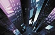 城市的大厦 暗调视觉设计壁纸 1920 1200 Nucu Paslaru 潮流CG视觉设计 插画壁纸