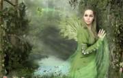 绿仙子 魔幻女性PS壁纸 女性主题幻想PS壁纸 插画壁纸