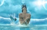 Aquatic Beauty 奇幻女性PS壁纸 女性主题幻想PS壁纸 插画壁纸
