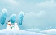 Painter 水彩风格童话冬天插画壁纸 插画壁纸