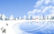1920 1440 Painter 插画 童话冬天雪景插画壁纸 Painter 水彩风格童话冬天插画壁纸 插画壁纸