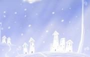 1920 1440 Painter 插画 童话冬天雪景壁纸 Painter 水彩风格童话冬天插画壁纸 插画壁纸