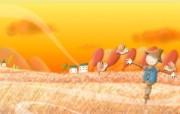 1920 1440 Painter 插画稻草人 秋天稻草人壁纸 Painter 水彩风格童话秋天插画壁纸 插画壁纸