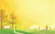 Painter 插画 童话秋天风景壁纸 Painter 水彩风格童话秋天插画壁纸 插画壁纸