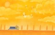 1920 1440 Painter 插画 童话秋天风景壁纸 Painter 水彩风格童话秋天插画壁纸 插画壁纸