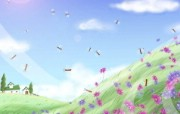 1920 1440 童话秋天 郊外风景插画壁纸 Painter 水彩风格童话秋天插画壁纸 插画壁纸