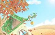 1920 1440 韩国风格 童话秋天插画壁纸 Painter 水彩风格童话秋天插画壁纸 插画壁纸