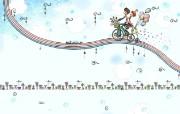 韩国插画名家系列 parang插画壁纸 甜蜜情侣 可爱韩国插画壁纸 Parang 韩国插画壁纸 插画壁纸