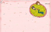 韩国插画名家系列 parang插画壁纸 拥抱你 可爱情侣插画壁纸 Parang 韩国插画壁纸 插画壁纸