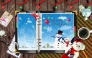 Photoshop 创意设计 缤纷圣诞节壁纸 Photoshop 创意缤纷办公生活主题 插画壁纸