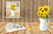 Photoshop 创意设计 夏日向日葵 Photoshop 创意缤纷办公生活主题 插画壁纸