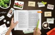 Photoshop 创意设计 看书学习图片 Photoshop 创意缤纷办公生活主题 插画壁纸