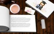 Photoshop 创意设计 毕业女孩图片 Photoshop 创意缤纷办公生活主题 插画壁纸