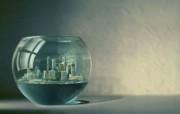 创意无限 Platinum 创意设计壁纸 1680x1050 城市囚笼 创意想像设计图片 Platinum 创意广告设计一 插画壁纸