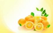 橙 PSD水果设计壁纸 PSD清新蔬果蔬果PS设计壁纸 插画壁纸