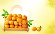 橘子 水果PSD设计壁纸 PSD清新蔬果蔬果PS设计壁纸 插画壁纸
