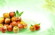 苹果 水果PSD设计壁纸 PSD清新蔬果蔬果PS设计壁纸 插画壁纸