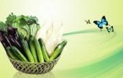 蔬果 PSD设计壁纸 PSD清新蔬果蔬果PS设计壁纸 插画壁纸