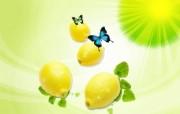 柠檬 水果PSD设计壁纸 PSD清新蔬果蔬果PS设计壁纸 插画壁纸