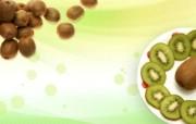 猕猴桃 水果PSD设计壁纸 PSD清新蔬果蔬果PS设计壁纸 插画壁纸