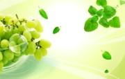 新鲜水果PSD设计壁纸 PSD清新蔬果蔬果PS设计壁纸 插画壁纸