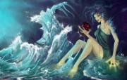 Water Sroty After Oil 澳洲插画家Belinda Day 插画壁纸 1920x1200 奇幻女性CG插画优秀CG插画大师作品第五辑 插画壁纸