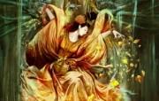 孔雀 中国插画家陈惟 CG插画壁纸 1920x1200 奇幻女性CG插画优秀CG插画大师作品第五辑 插画壁纸