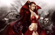Crimson Enchantress 波兰插画家 Mark Coulson 插画壁纸 1920x1200 奇幻女性CG插画优秀CG插画大师作品第五辑 插画壁纸