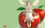 日本插画壁纸 红苹果 日本插画壁纸 红苹果Japanese Cartoon Illustration Red Apple Girl 日本插画壁纸红苹果 插画壁纸