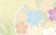 日本风格色彩与图案设计壁纸 美丽碎花布 日本风格色彩图案 日本风格色彩设计 插画壁纸