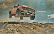 流行设计元素 福特F150 Raptor 沙漠狂奔福特F150 Raptor 壁纸 Seventh Street 创意设计壁纸 插画壁纸
