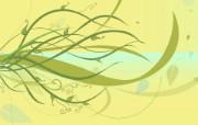 矢量植物花纹背景壁纸 抽象植物花纹背景设计 1920 1200 时尚植物花纹背景壁纸 插画壁纸