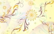矢量植物花纹背景壁纸 Vector Floral Art Vector Flower Patterns Background 时尚植物花纹背景壁纸 插画壁纸