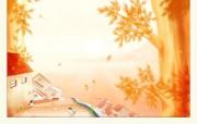 唯美插画温馨家园 插画壁纸