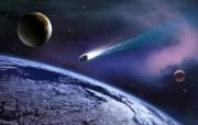 宇宙探索 太空与航天艺术图 第二辑 宇宙太空CG插画 陨石撞向地球图片 1920 1200 宇宙探索太空与航天CG插画二 插画壁纸