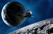 宇宙探索 太空与航天艺术图 第二辑 宇宙星球CG插画 地球太空穿梭机图片 1920 1200 宇宙探索太空与航天CG插画二 插画壁纸