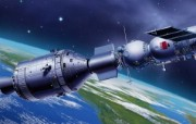 宇宙探索 太空与航天艺术图 第二辑 太空艺术图 星球 太空 卫星图片 1920 1200 宇宙探索太空与航天CG插画二 插画壁纸