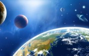 宇宙探索 太空与航天艺术图 第二辑 宇宙星球太空CG插画 地球 太空 星球图片 1920 1200 宇宙探索太空与航天CG插画二 插画壁纸