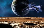 宇宙探索 太空与航天艺术图 第二辑 宇宙太空CG插画 地球人造卫星图片 1920 1200 宇宙探索太空与航天CG插画二 插画壁纸
