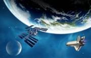 宇宙探索 太空与航天艺术图 太空艺术图 地球 卫星图片 1920 1200 宇宙探索太空与航天艺术图 插画壁纸
