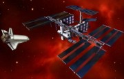 宇宙探索 太空与航天艺术图 太空宇宙 人造卫星与穿梭机CG图片 宇宙探索太空与航天艺术图 插画壁纸