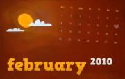 2010年2月月历创意壁纸 2010年2月月历创意壁纸 创意壁纸