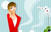 插画女性壁纸 插画女性壁纸 创意壁纸