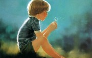 法国 儿童水彩画集 创意壁纸