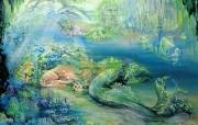 Josephine Wall 天国的精灵插画壁纸 Josephine Wall 天国的精灵插画壁纸 创意壁纸