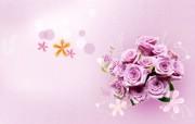 宽屏合成精品花卉 创意壁纸