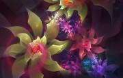 梦幻花朵 创意壁纸